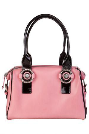 Сумка Capoverso. Цвет: розовый, чёрный