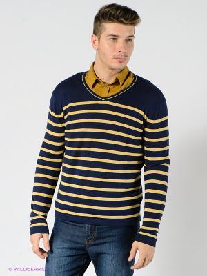 Пуловер TOM FARR. Цвет: темно-синий, желтый
