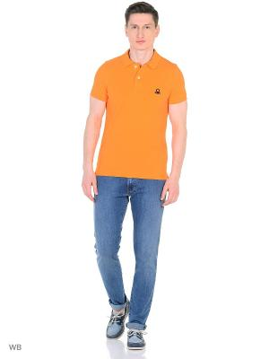 Футболка-поло United Colors of Benetton. Цвет: оранжевый