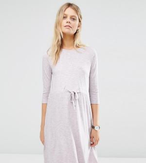 ASOS Maternity Лиловое платье для дома с короткими рукавами беременных Mater. Цвет: розовый
