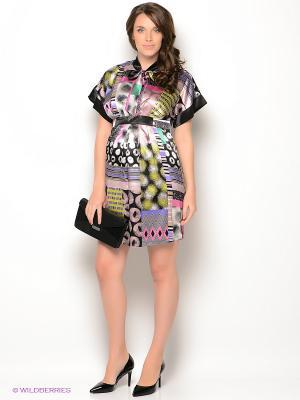 Платье UNIOSTAR. Цвет: черный, зеленый, розовый