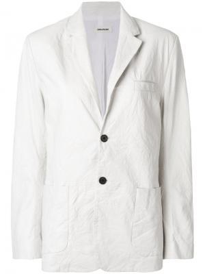 Пиджак мешковатого кроя Zadig & Voltaire. Цвет: белый