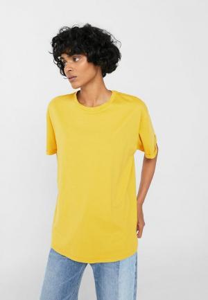 Футболка Mango. Цвет: желтый