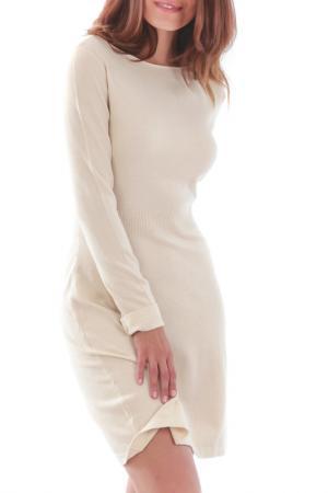 Платье CASHMERE 4 EVER. Цвет: ecru