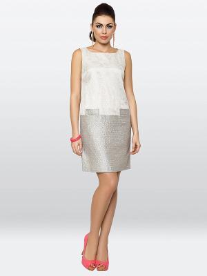 Платье E.Levy. Цвет: молочный, серый