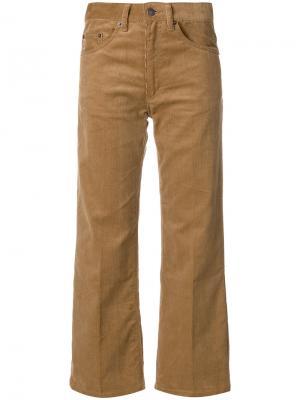 Вельветовые укороченные брюки Marc Jacobs. Цвет: коричневый