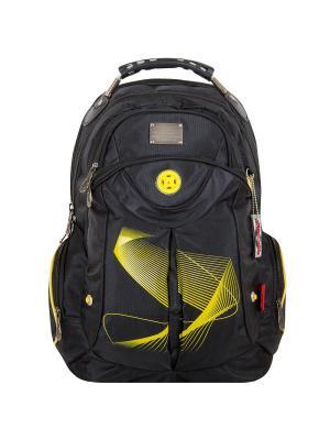 Рюкзак Across. Цвет: черный, желтый
