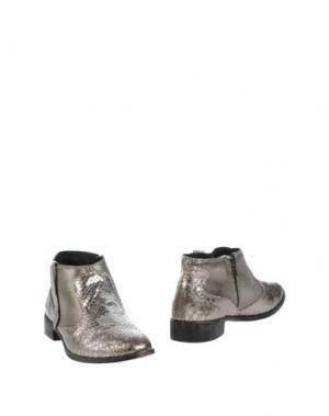 Полусапоги и высокие ботинки CRIME LONDON. Цвет: серебристый