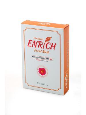 Маска для лица с экстрактом камелии Vescillonia Enrich Facial Mask, 5 шт. Цвет: оранжевый