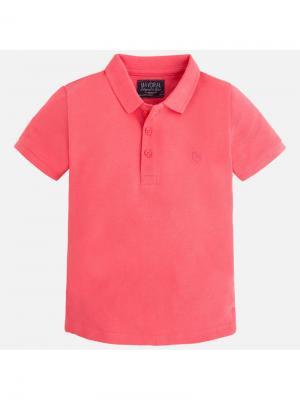 Футболка-поло Mayoral. Цвет: розовый