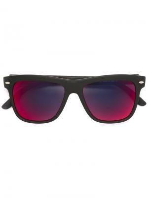 Солнцезащитные очки в прямоугольной оправе Spektre. Цвет: чёрный