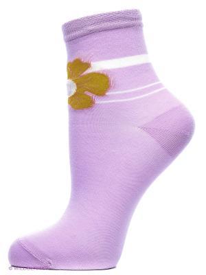 Носки, 2 пары Cascatto. Цвет: сиреневый