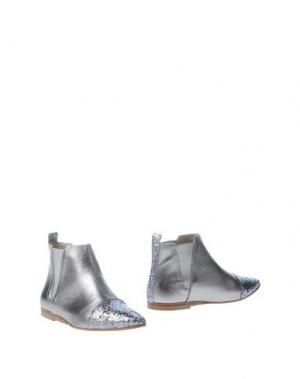 Полусапоги и высокие ботинки LISA C BIJOUX. Цвет: серебристый