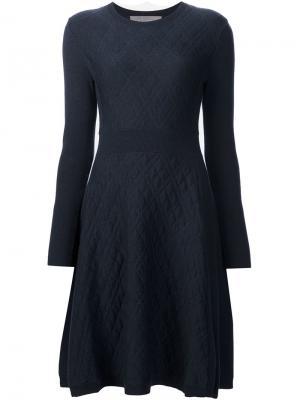 Жаккардовое платье Lela Rose. Цвет: синий