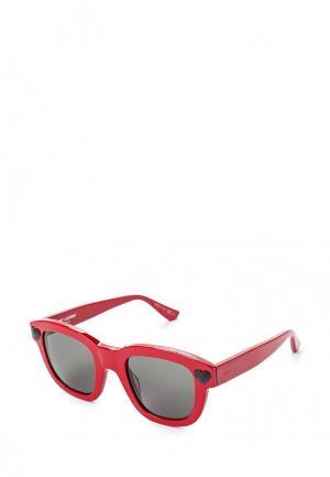 Очки солнцезащитные Saint Laurent. Цвет: красный