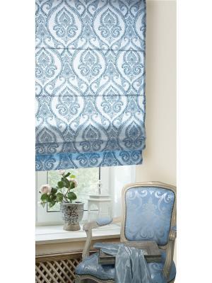 Римская тканевая штора, Кюрасао Блю, размер: 100х160 см Эскар. Цвет: синий