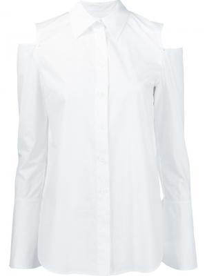 Рубашка с вырезами на плечах Derek Lam. Цвет: белый