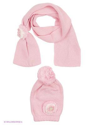 Комплект детский (шапка,шарф) R&I. Цвет: розовый