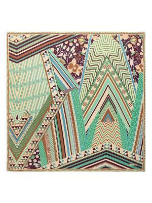 Платок Eleganzza. Цвет: темно-коричневый,серо-голубой,коричневый,серо-зеленый,темно-бежевый,бежевый