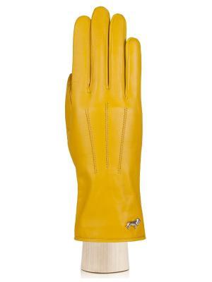 Перчатки Labbra. Цвет: желтый