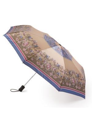 Зонт женский автомат Henry Backer. Цвет: бежевый
