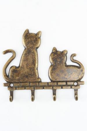 Крючок 2 кота Stilars. Цвет: бронза