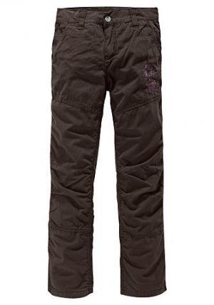 Утепленные брюки ARIZONA. Цвет: коричневый
