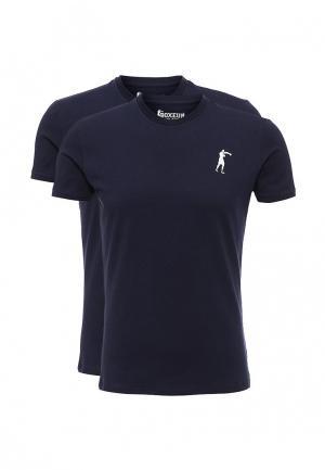 Комплект футболок 2 шт. Boxeur Des Rues. Цвет: синий