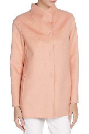 Полуприлегающее пальто с застежкой на кнопки Cinzia Rocca. Цвет: персиковый