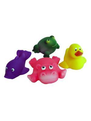 Набор для купания №4 Огонек. Цвет: зеленый, розовый, темно-фиолетовый