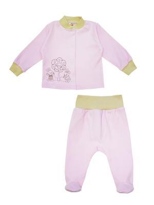 Комплект одежды: кофточка, ползунки Коллекция Зайкина любовь КОТМАРКОТ. Цвет: розовый