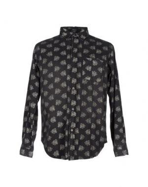 Джинсовая рубашка CURRENT/ELLIOTT. Цвет: свинцово-серый