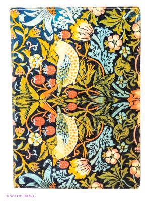 Обложка для автодокументов Райская птица Mitya Veselkov. Цвет: темно-синий, голубой, желтый