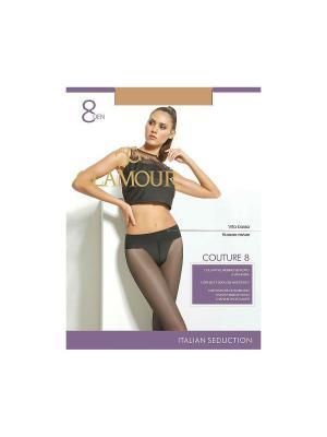 Колготки Couture 8 Glamour. Цвет: светло-бежевый