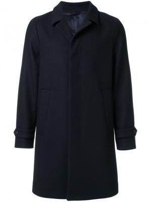 Классическое однобортное пальто Hevo. Цвет: синий