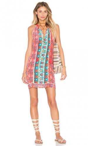 Платье savannah Tolani. Цвет: красный