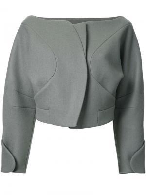 Укороченный пиджак Taro Horiuchi. Цвет: зелёный