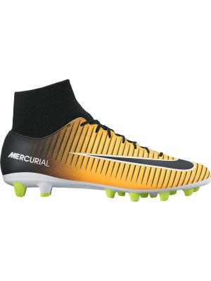 Бутсы MERCURIAL VICTORY VI DF AGPRO Nike. Цвет: оранжевый, белый, черный