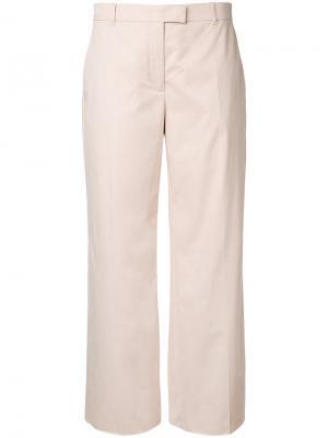 Расклешенные брюки Agnona. Цвет: телесный
