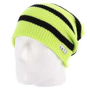 Шапка носок  Daily Stripe Ten/Black Neff. Цвет: зеленый,черный