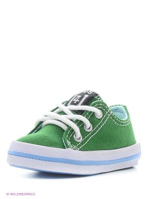 Кеды 4U. Цвет: темно-зеленый, серый