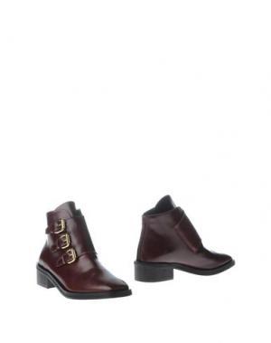 Полусапоги и высокие ботинки REBECA SANVER. Цвет: красно-коричневый
