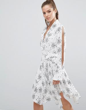 C/meo Collective Платье Interrupt. Цвет: белый