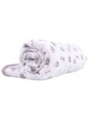 Одеяло трикотажное 75х90 Зоопарк графит DAISY. Цвет: антрацитовый,серый,белый