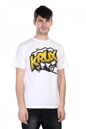 Футболка  Bum Rush White Krux. Цвет: белый