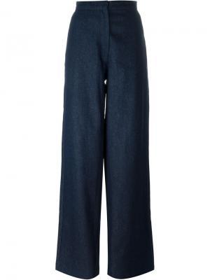 Широкие джинсы с завышенной талией Charlie May. Цвет: синий