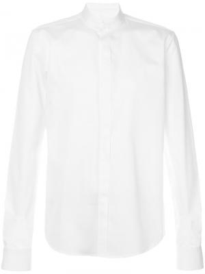 Рубашка с косым воротником Wooyoungmi. Цвет: белый