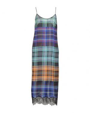 Длинное платье CLOVER CANYON. Цвет: светло-зеленый