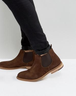 KG Kurt Geiger Коричневые ботинки челси Halstead. Цвет: коричневый