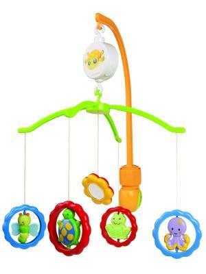 Карусель музыкальная пластиковая - животные с зеркалами, 0+ Canpol babies. Цвет: белый
